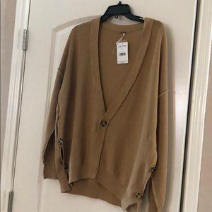 Free people brown sweater cardigan